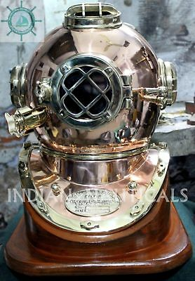 Morse Us Navy Diving Helmet Mark V Model Solid Copper & Brass Antique Repoductio