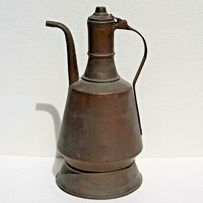 Large Islamic Turkish Ottoman Copper Ibric Pitcher Ewer for Water.