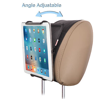 Universal Adjustable Car Headrest Mount Holder with Angle for 6-12.9 Inch Tablet