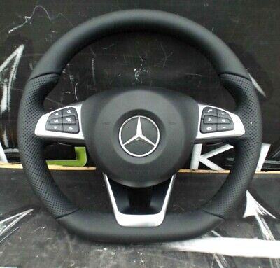Mercedes A B Gla Glc Gle Slk Class Genuine Amg Steering Wheel With Airbag