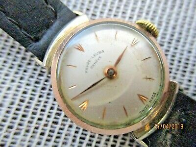 Fine Vintage Art Deco Rolled Gold Swiss Favre Leuba Geneve Ladies Cocktail Watch