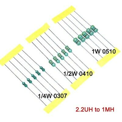 1/4W 1/2W 1W Color Code Inductance Axial Multi Listing 2.2UH-1MH Ring Inductor