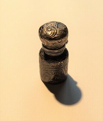 Victorian miniature silver scent bottle