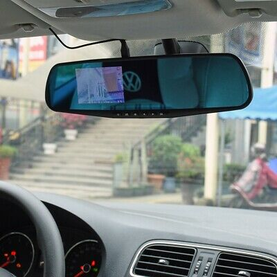 "4.3"" Vehicle Mirror Monitor Car Rear View Camera Night Vision Dash Cam Recorder"