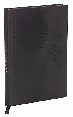 Ted Baker London Black Hardside Journal Notebook Diary Biking Sports Tour A