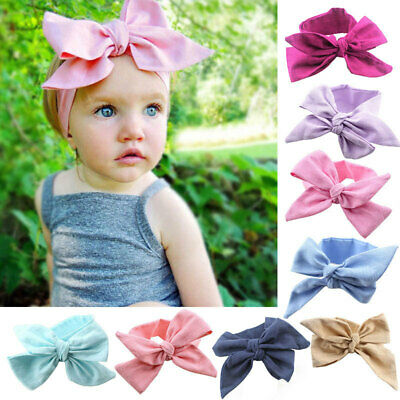 DIY Newborn Headband Ribbon Baby Headdress Kids Hair Band Girl Bow Knot