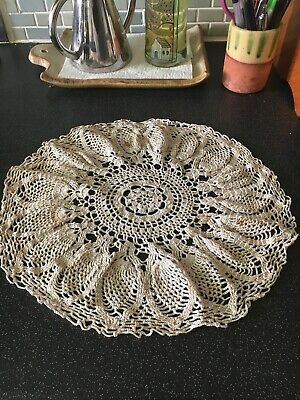 Vintage Hand Crocheted Doily Centre Piece Table Topper