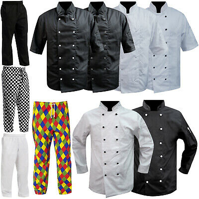 Chef Jacket & Chef Trousers Clothing Full / Short Sleeves & Mesh Back Uniform