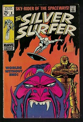 MARVEL COMICS issue 6 FN- 5.5  SILVER SURFER fantastic four 1969