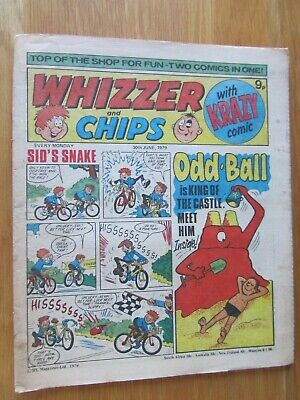 WHIZZER AND CHIPS COMIC 30th June 1979. Novel 40th Birthday Present!