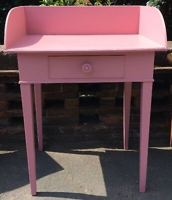 Early 20th Century Pink Painted Ledge Back Washstand With Single Drawer