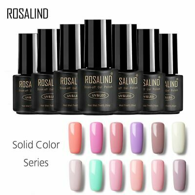 ROSALIND Poly Gel Soak Off Hybrid Varnish Nail Polish Semi Permanent Manicure