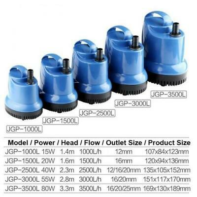 Submersible Water Pumps Fish Tank Aquarium Pond Waterfall Fountain Feature Pumps