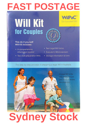 Will Kit Wilpac Australian Diy Legal For Couples Rrp $29.95
