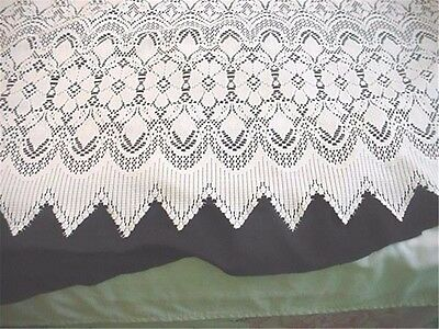 Pair Romantic Ivory Lace Window Curtain Panels 86 long by 56 wide (1 of 2 sets)