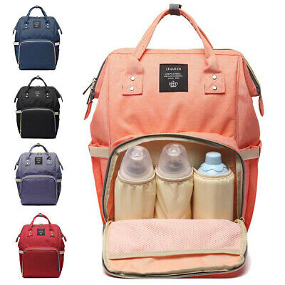 LEQUEEN Baby Diaper Bag Mummy Travel Backpack Handbag Maternity Nappy Bag
