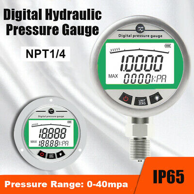 0-40mpa Industrial Digital Hydraulic Pressure Testing Gauge NPT1/4 Connecter