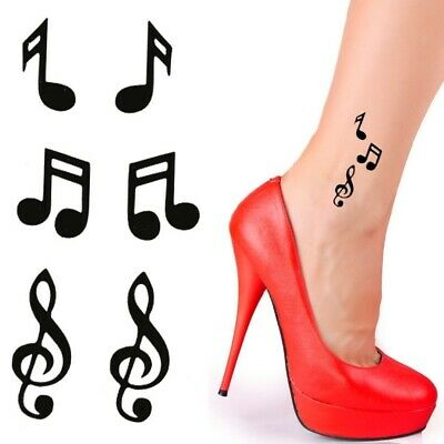 Einmal Tattoo Musik Temporary Tattoo Rose Aufkleber Temporäre Tattoos Schwarz