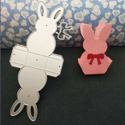 3D Rabbit Candy Box Metal Cutting Dies Stencils For DIY Scrapbooking Stamp