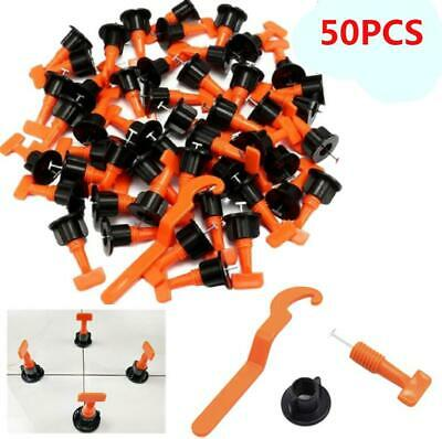 50Pcs/bag Flat Ceramic Floor Wall Construction Tools Tile Leveling System Kit