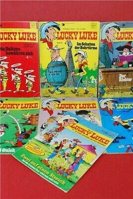 Lucky Luke Comic Books x7 German, Vintage, collectable