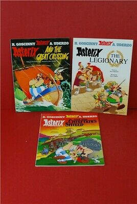 Asterix Comic books x7 vintage English and German