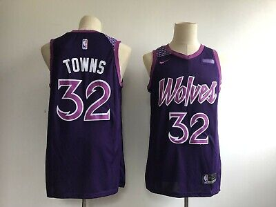 3064c6f823c Men s MIN Timberwolves 32 Karl-Anthony Towns Purple City Edition Swingman  Jersey