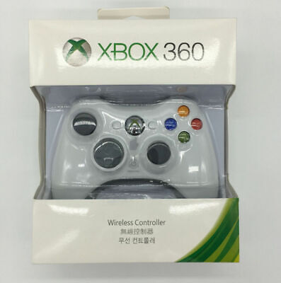Official Microsoft Xbox 360 Wireless Game Controller BLACK/WHITE Gamepad - NEW