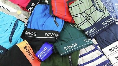 6x Men's Bonds Underwear Sport Trunk Boxer Brief Size S Random Colors
