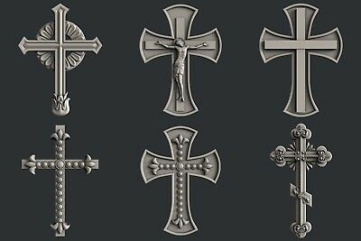 3d STL models for CNC, Artcam, Aspire, relief  Cross