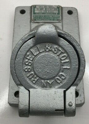 4465 Russell Used Explosion Proof 20 Amp 125-250V 4P Receptacle Used