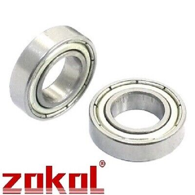 TWO 6800ZZ METAL SHIELDED PRECISION BEARINGS 10mm x 19mm x 5mm - 1st Class Post!