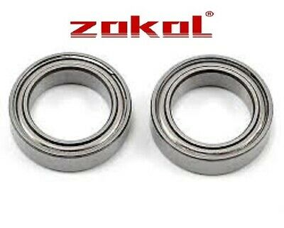 TWO 6700ZZ METAL SHIELDED PRECISION BEARINGS 10mm x 15mm x 4mm - 1st Class Post!