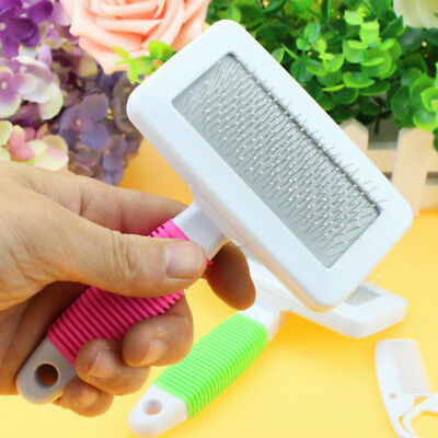 New Handle Shedding Pet Dog Cat Hair Brush Pin Fur Grooming Trimmer Comb Tool