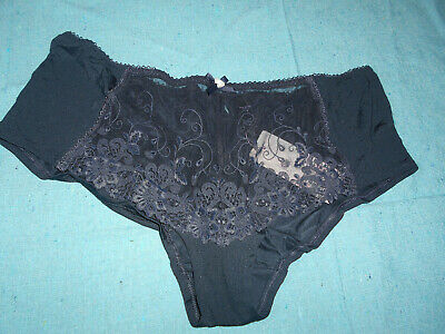 MARKS /& SPENCERS  RED SHEEN AND LACE BRAZILIAN KNICKERS  SIZE UK 8  NEW