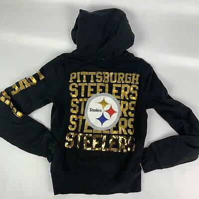 f18561c4e Victorias Secret Pink NFL Pittsburgh Steelers bling hoodie women s Small  A1530