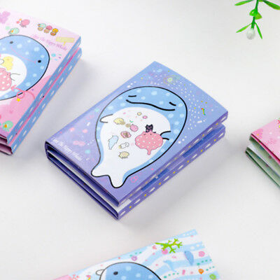 Cartoon Whale Series Cute Portable Sticky Folding Notepad Memo Pads