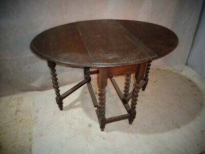 Antique Oak Barley Twist Table Vintage Dining Table Annie Sloane Project Shabby