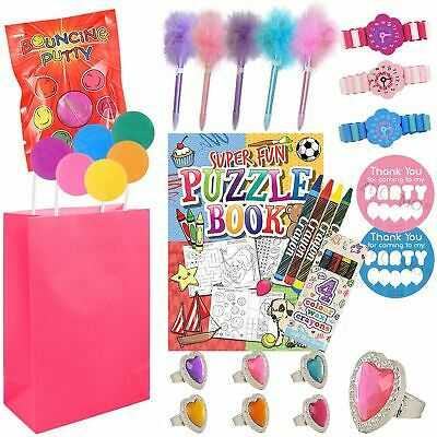 Pre Filled Childrens Birthday Paper Party Loot Goody Bags Favours Toys For Girls