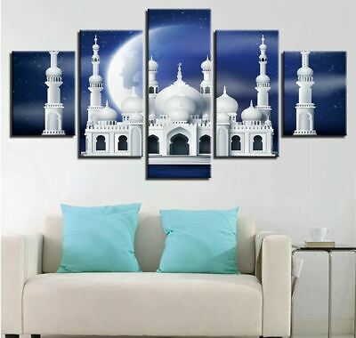 Islam Mosque Muslim 5 Piece canvas Wall Art Print Picture Home Decor