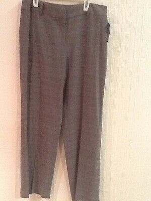 NWT $49 Style & Co. Women's Brown Plaid Stretch Dress Pants Sz 8P 8 Petite NWT