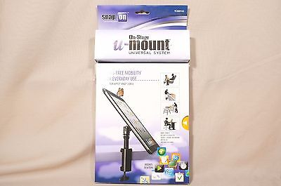 On-Stage Stands TCM9163 Quick Disconnect Table Edge Tablet Mount Gun Metal