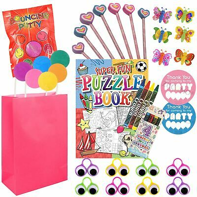 Childrens Birthday Pre Filled Girls Favor Party Goodie Loot Bags Toys Kids Party