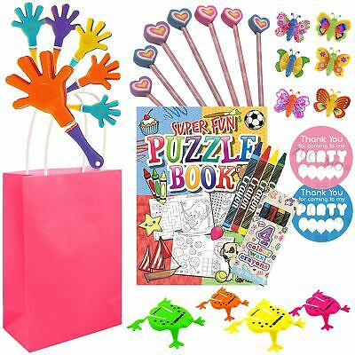 Pre Filled Childrens Birthday Activities Party Bags Goodie Loot Favours Girls