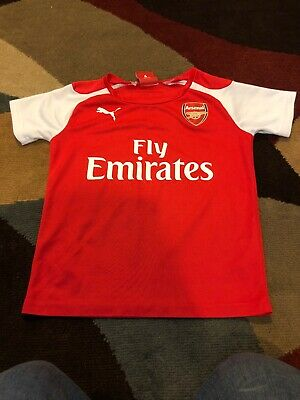 9e6f113b778 PUMA ARSENAL FC Soccer Jersey Youth Home Jersey Red White Short ...