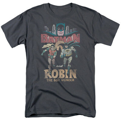 BATMAN Duo Vintage 60s TV Show Series Officially Licensed Adult T-Shirt