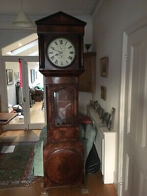 Imposing Early Nineteenth Century Flame Mahogany Regulator