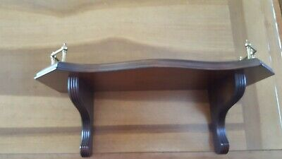 "ETHAN ALLEN Cherry Wall Shelve 18"" long by 8"" deep and Mirror 14""-14"""
