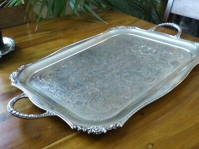 A Vintage Silver Plated Large Tray - Viners Of Sheffield