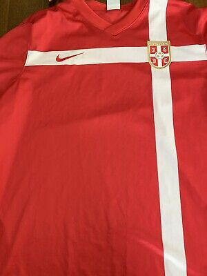 3e1dab578 4.9 5 Serbia soccer jersey small 2010 2011 home shirt soccer football Nike  ig93